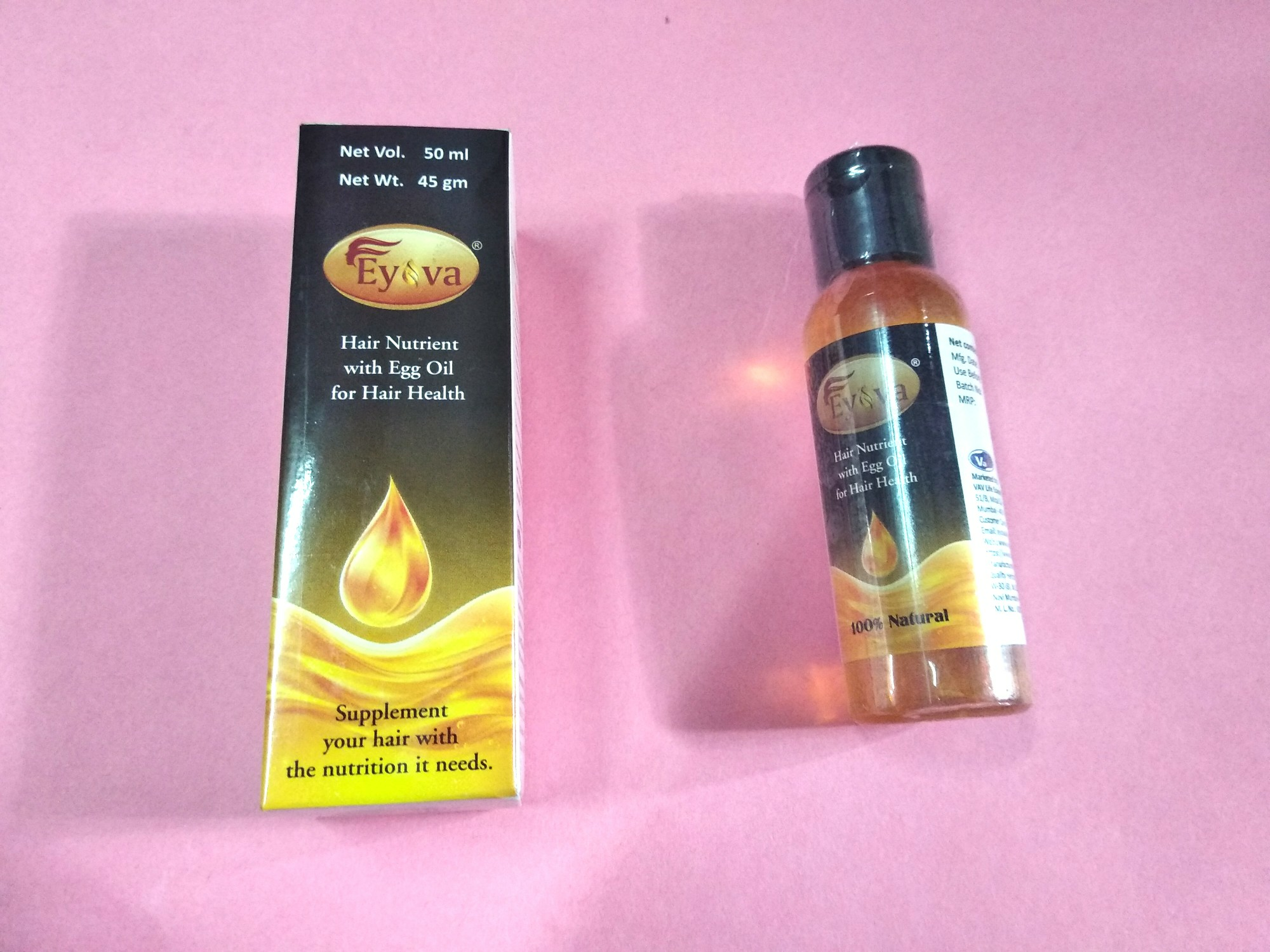 Eyova hair oil  World's 1st egg oil (hair nutrient with egg oil for hair health) image