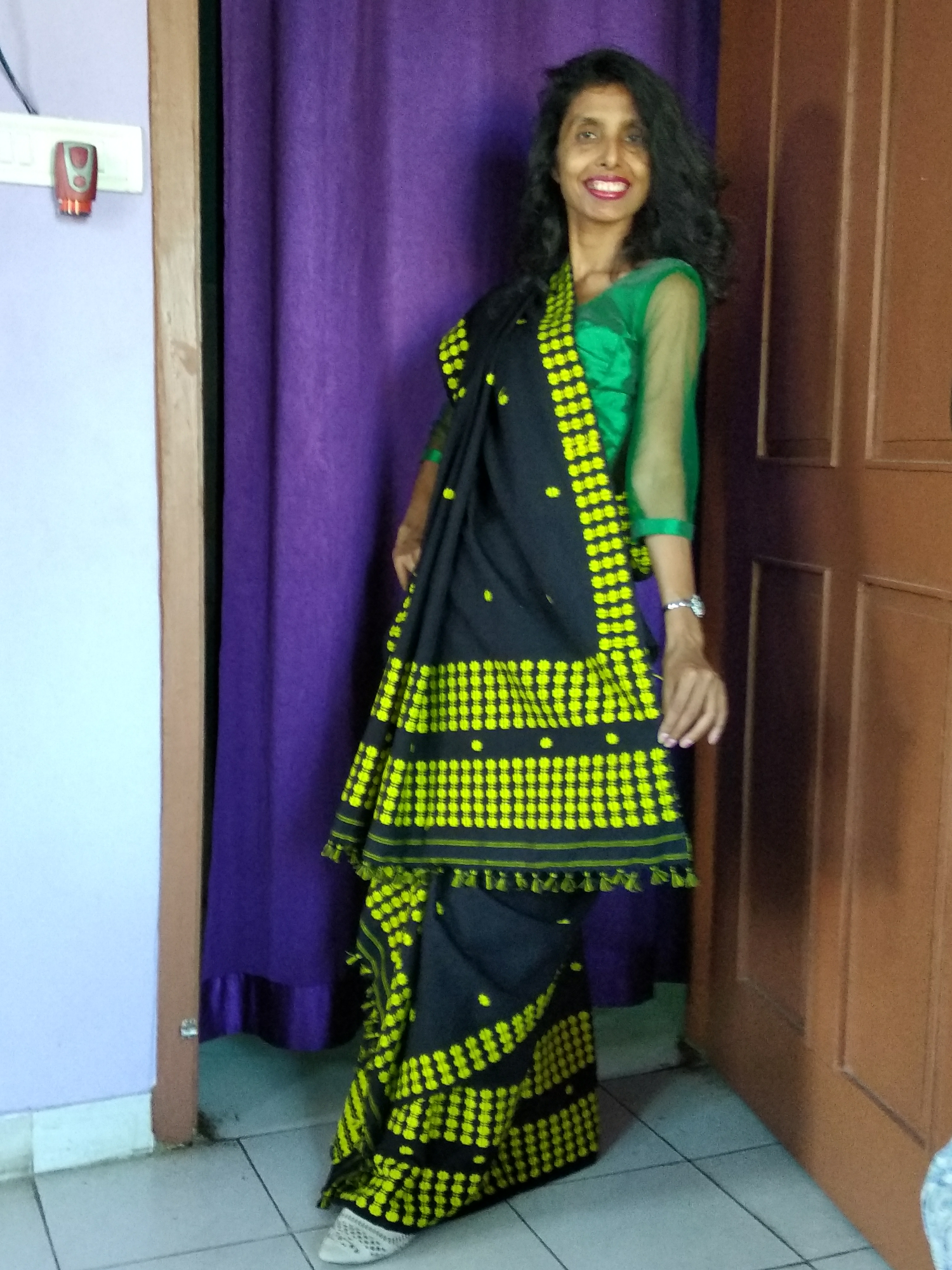 allboutfashion-An ethnic style with our traditional dress of Assam, Mekhela chador