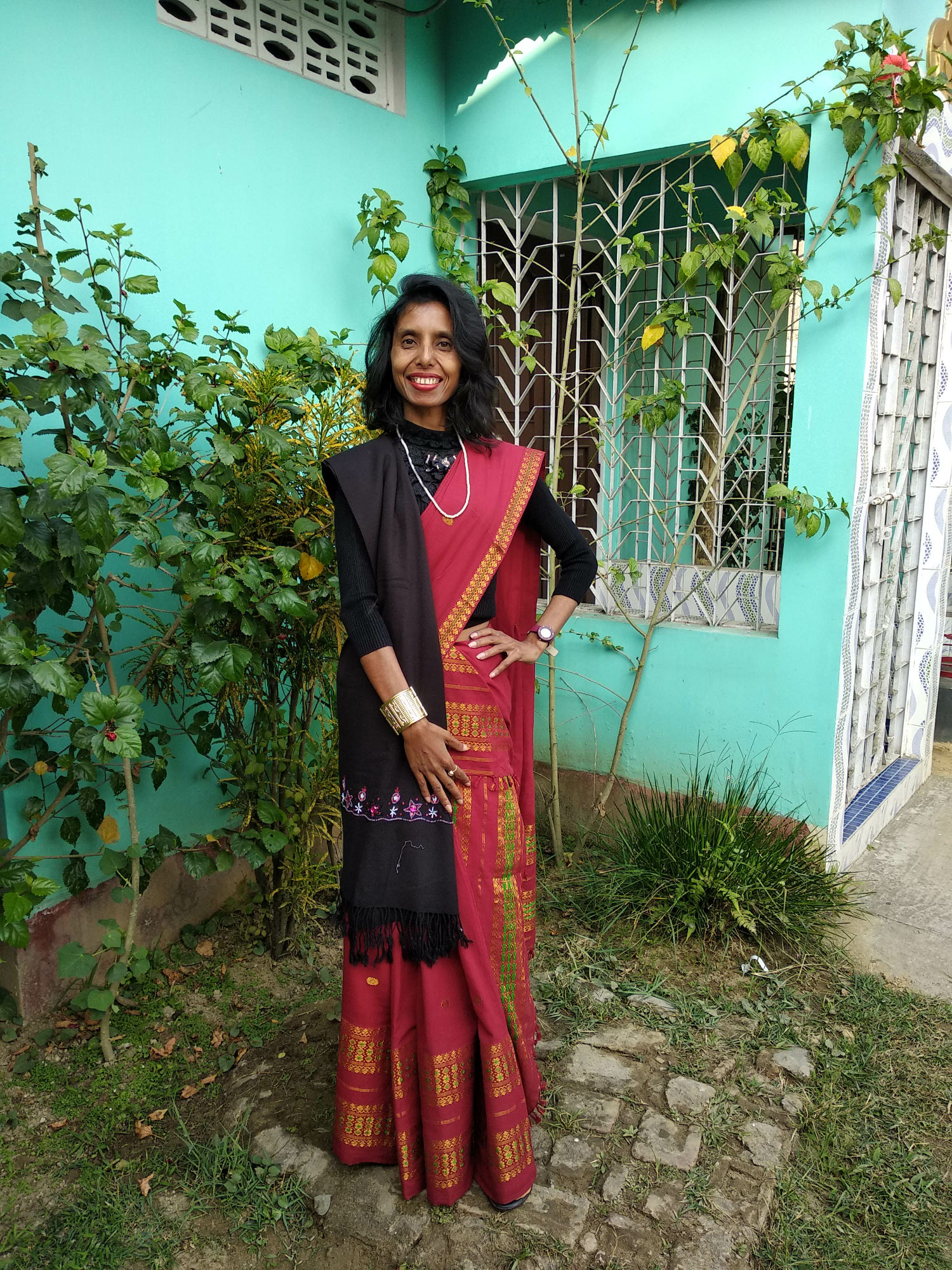 allboutfashion-An ethnic winter party wear fashion