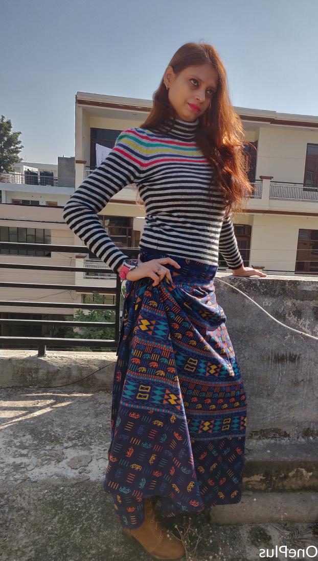 Poonzworld-Winter Looks in Skirt!