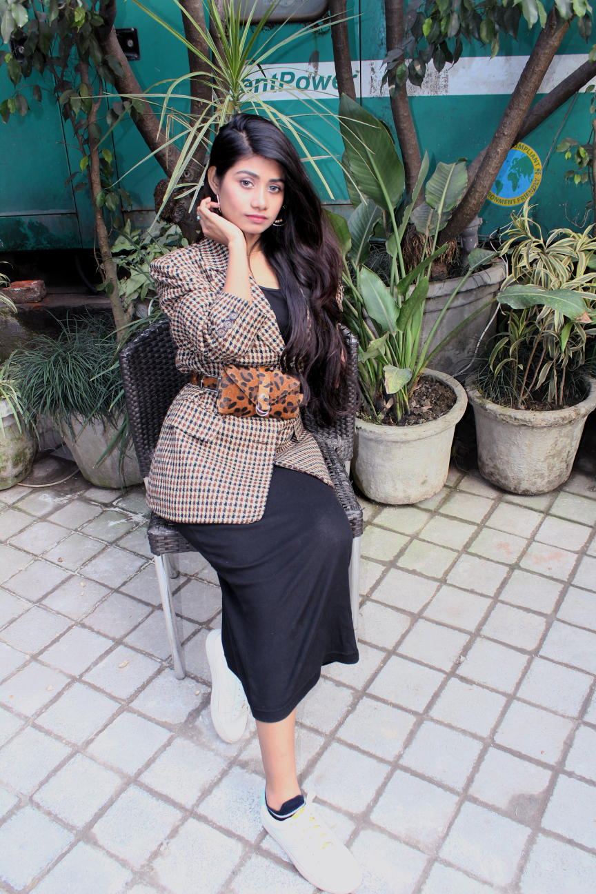 Beautsfashion-Styling Bodycon Dress in Winters:HnM