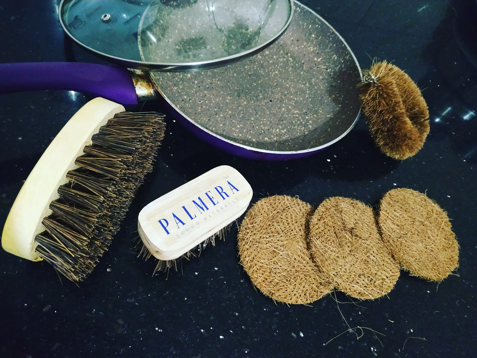 Ditch plastic scrubber and gift your mother Ecofriendly scrubber and brushes from Palmer's brushes....  image