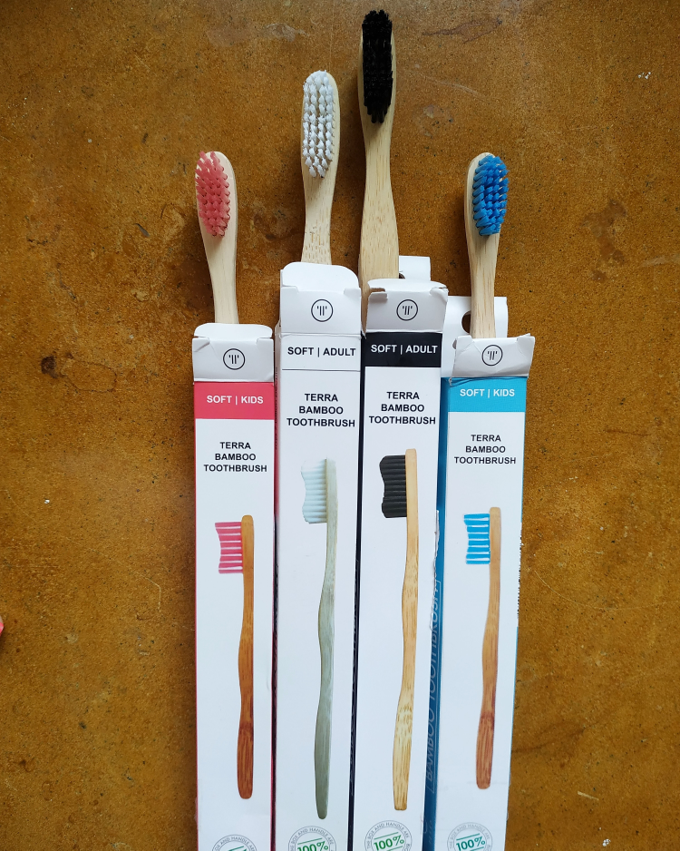 undefined-Choosing bamboo tooth brushes over plastic tooth brush....