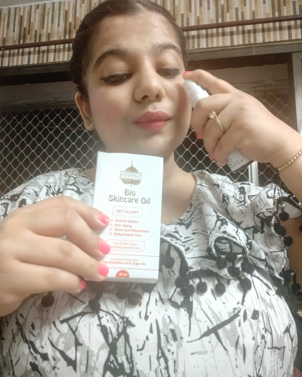 Pavitra plus Bio skin care oil personal tried and tested review.........  image