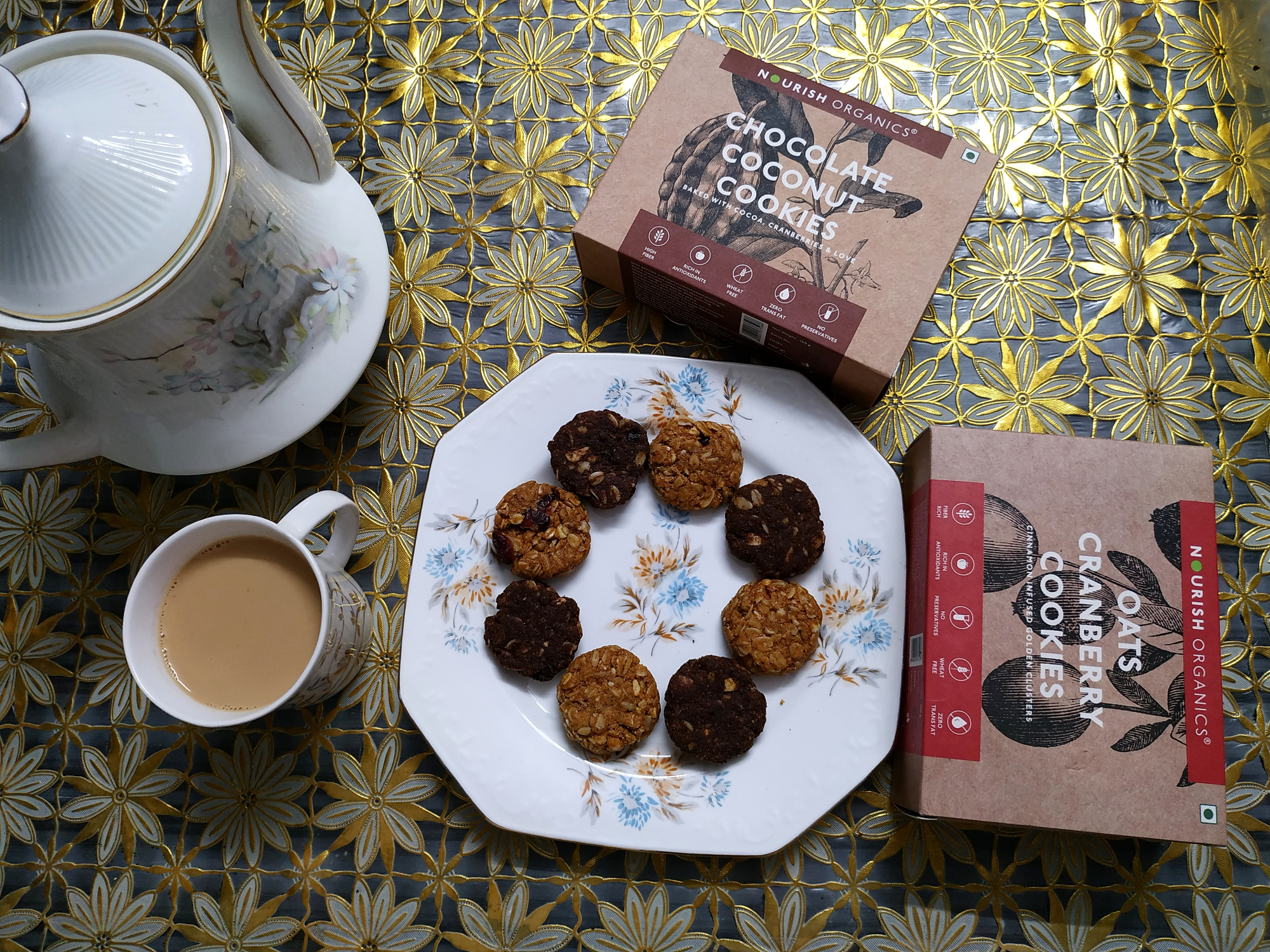 undefined-Guilt free and gluten free cookies from Nourish organics.....