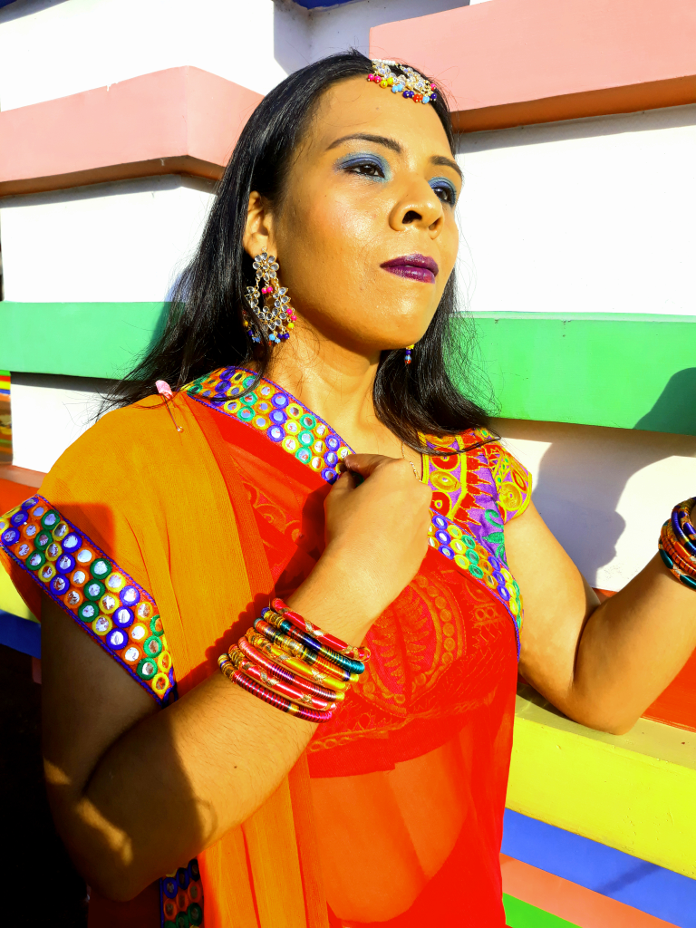 A NAVARATRI LOOK IN MEKHELA CHADOR (TWO -PIECE SAREE),THE TRADITIONAL DRESS OF ASSAM image
