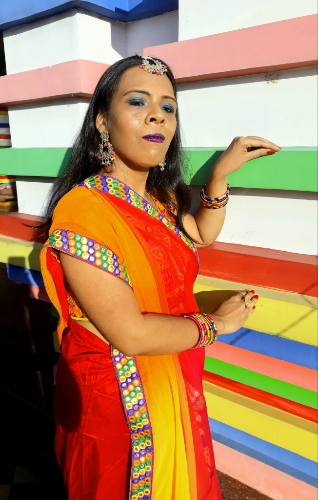 fashionistaspeaks-A NAVARATRI LOOK IN MEKHELA SADOR (TWO -PIECE SAREE),THE TRADITIONAL DRESS OF ASSAM