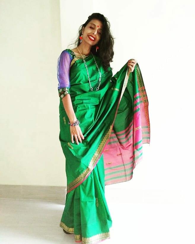 Saree style image