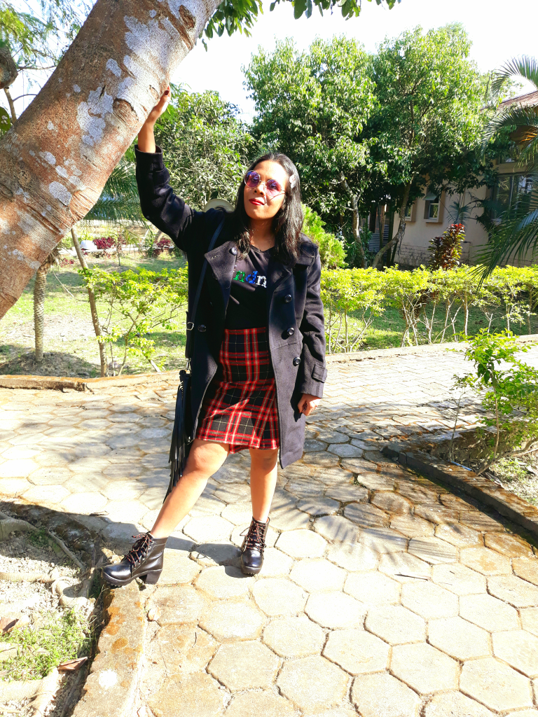 ONE PLAID SKIRT AND THREE WINTER LOOKS image