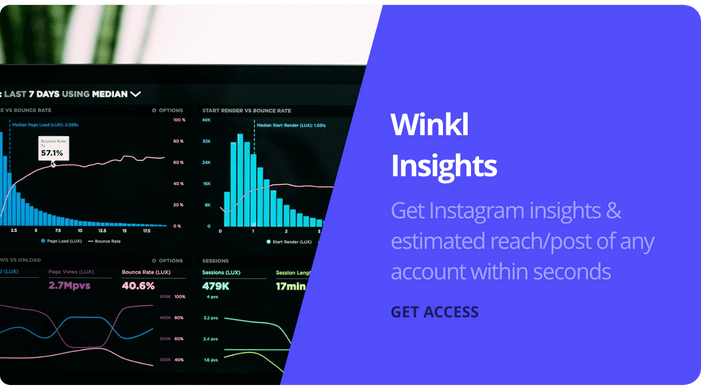 Winkl Insights - Get Full Instagram Insights and analytics with Winkl's latest technology